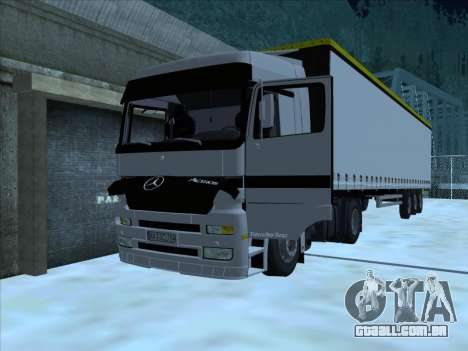 Mercedes-Benz Actros 1840 para GTA San Andreas vista interior