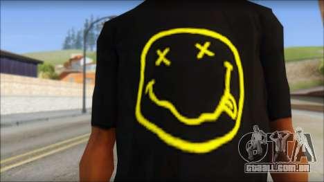 Nirvana T-Shirt para GTA San Andreas terceira tela