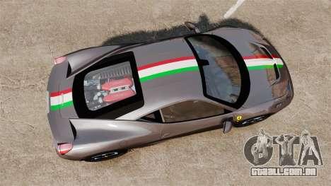 Ferrari 458 Italia Speciale Novitec Rosso para GTA 4 vista direita