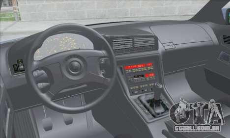 BMW E31 850CSi 1996 para GTA San Andreas vista interior
