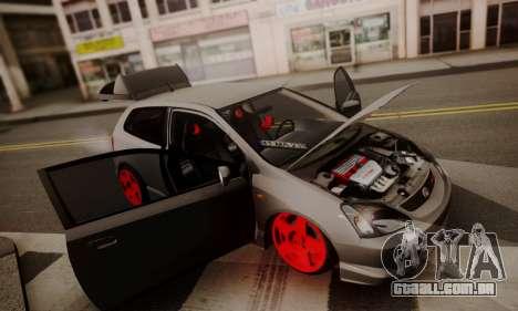 Honda Civic TypeR para GTA San Andreas vista traseira