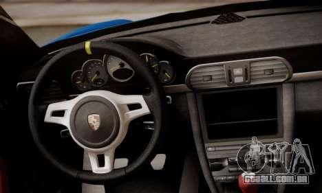 Porsche 911 GT3 RS4.0 2011 para GTA San Andreas interior
