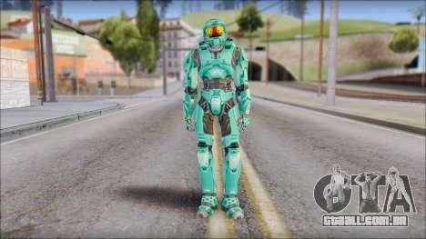 Masterchief Blue-Green from Halo para GTA San Andreas segunda tela