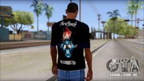 Papa Roach The Connection Fan T-Shirt para GTA San Andreas segunda tela