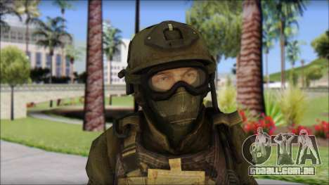 Roach Anderson in Dark Suit from MW2 para GTA San Andreas terceira tela