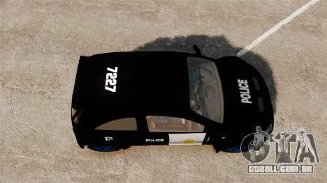 Opel Corsa Police para GTA 4 vista direita