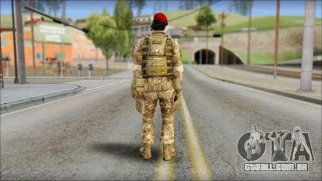 Desert Vlad GRU from Soldier Front 2 para GTA San Andreas segunda tela