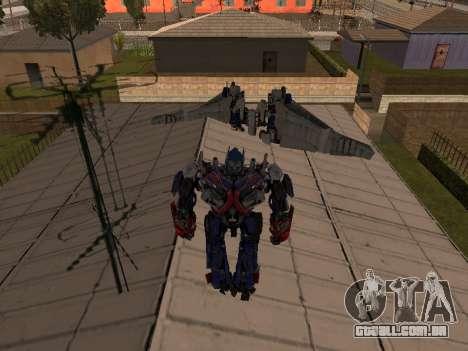 Optimus Jetpack para GTA San Andreas terceira tela