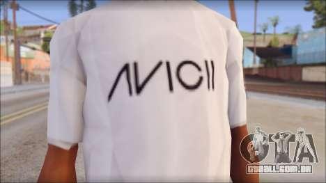 Avicii Fan T-Shirt para GTA San Andreas terceira tela