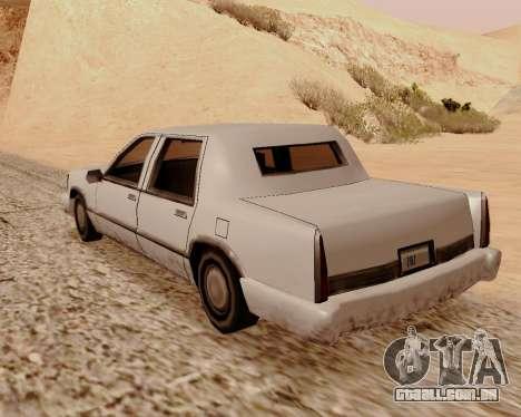 Trecho De Limousine para GTA San Andreas traseira esquerda vista