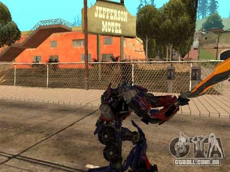 Optimus Sword para GTA San Andreas sexta tela