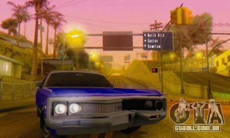 Chrysler New Yorker 1971 para vista lateral GTA San Andreas