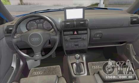 Audi A3 1999 para GTA San Andreas vista interior