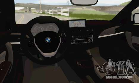 BMW M135i para GTA San Andreas interior