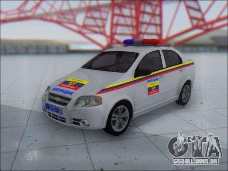 Chevrolet Aveo Милиция OHP para GTA San Andreas