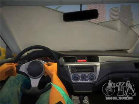 Mitsubishi Lancer Evolution 8 2004 para GTA Vice City vista direita
