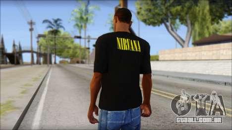 Nirvana T-Shirt para GTA San Andreas segunda tela