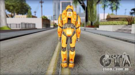 Masterchief Orange para GTA San Andreas terceira tela