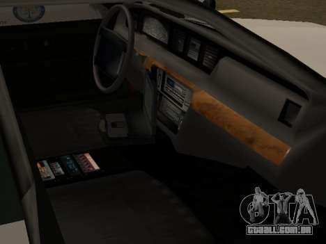 Police Original Cruiser v.4 para GTA San Andreas interior