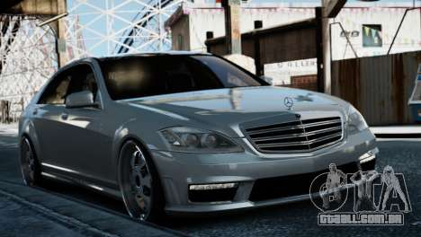 Mercedes-Benz S65 W221 AMG v1.3 para GTA 4 traseira esquerda vista