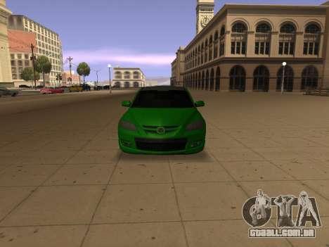 Mazda 3 para GTA San Andreas vista traseira