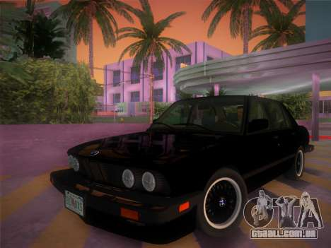 BMW 535i US-spec e28 1985 para GTA Vice City vista traseira esquerda