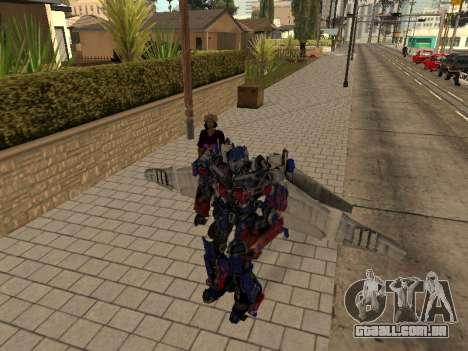 Optimus Jetpack para GTA San Andreas quinto tela