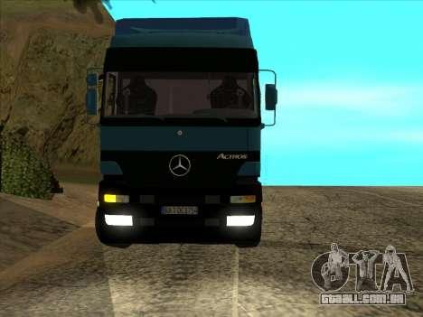 Mercedes-Benz Actros 1840 para GTA San Andreas vista traseira