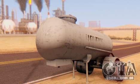 Reboque de cimento transportadora TTC 26 para GTA San Andreas vista traseira