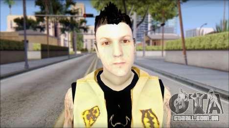 Joel from Good Charlotte para GTA San Andreas terceira tela