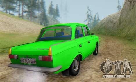 Moskvich 412 [DSA] para GTA San Andreas vista traseira