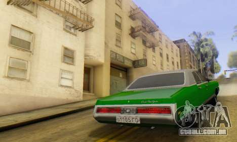 Chrysler New Yorker 1971 para GTA San Andreas esquerda vista