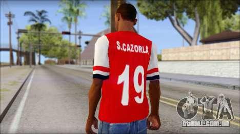 Arsenal 2013 T-Shirt para GTA San Andreas segunda tela