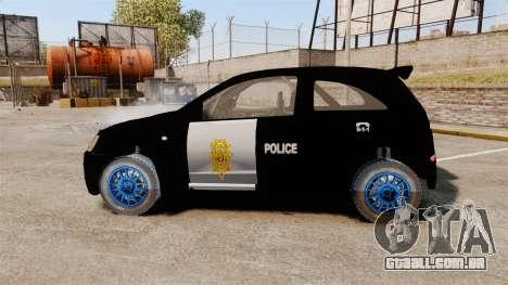 Opel Corsa Police para GTA 4 esquerda vista