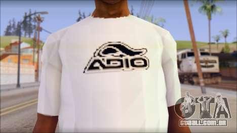 Adio T-Shirt para GTA San Andreas terceira tela