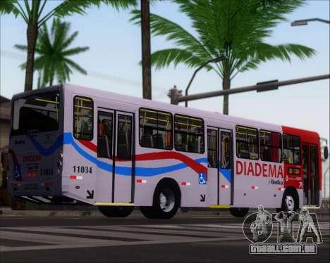 Comil Svelto 2008 Volksbus 17-2 Benfica Diadema para GTA San Andreas traseira esquerda vista