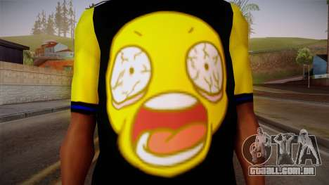Black & Yellow T-Shirt para GTA San Andreas terceira tela