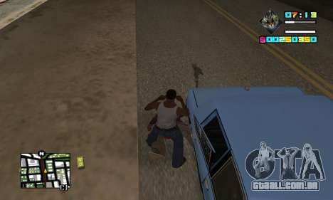 New HUD by Ptaxa1999 para GTA San Andreas terceira tela