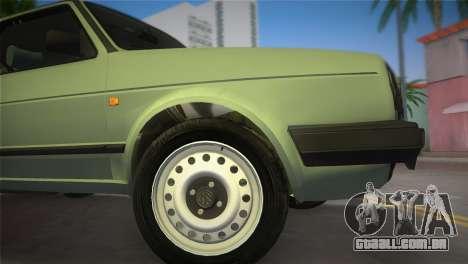 Volkswagen Golf II 1991 para GTA Vice City vista traseira esquerda