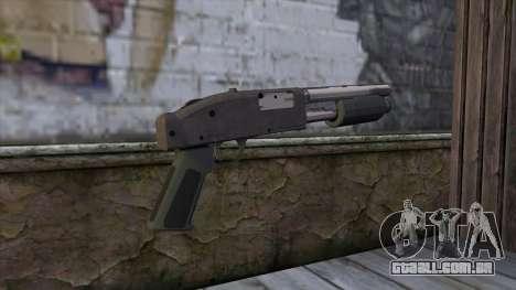 Sawnoff Shotgun from GTA 5 v2 para GTA San Andreas segunda tela