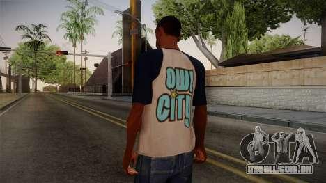 Owl City T-Shirt para GTA San Andreas segunda tela