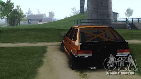 VAZ 2114 Cólicas para GTA San Andreas traseira esquerda vista