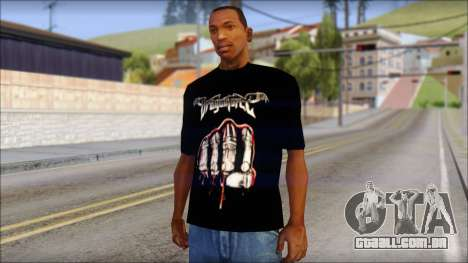 Dragonforce In Your Face Fan T-Shirt para GTA San Andreas