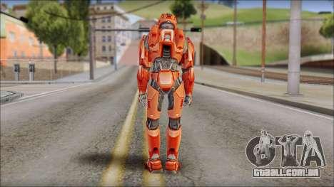 Masterchief Red from Halo para GTA San Andreas segunda tela