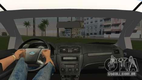 Ford Fusion 2009 para GTA Vice City vista traseira esquerda