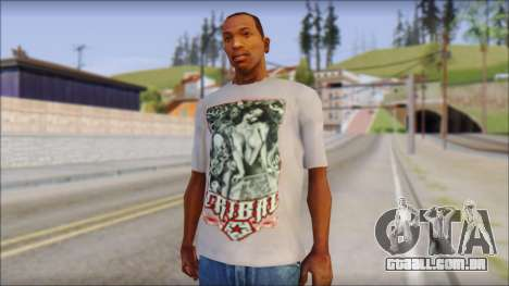 Tribal tee Mouse Inked White T-Shirt para GTA San Andreas