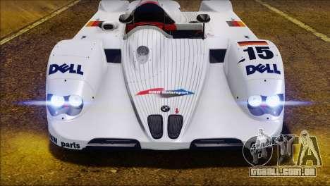 BMW 14 LMR 1999 para GTA San Andreas vista interior