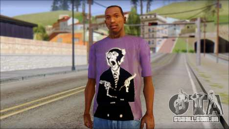 Monkey T-Shirt para GTA San Andreas