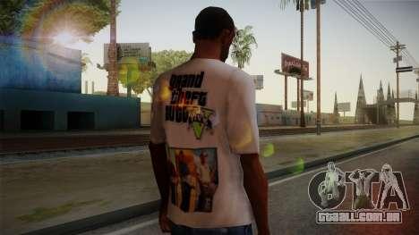 GTA 5 MFT T-Shirt para GTA San Andreas segunda tela