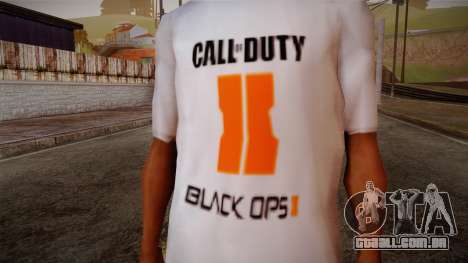 COD Black Ops II White Fan T-Shirt para GTA San Andreas terceira tela